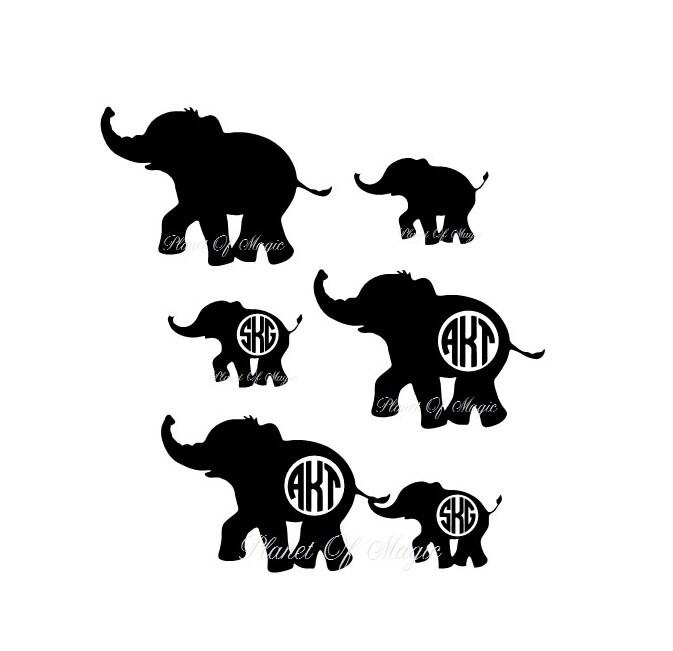 Download Elephant Monogram SVG File Elephant Mom EPS File Baby   Etsy