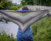 Handmade Crochet Green and Blue Wrap