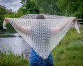 Lace Mohair Handmade Crochet Wrap Shawl Scarf