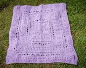 Handmade Crochet Pink Baby Blanket