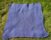 Handmade Crochet Purple Granny Square Blanket