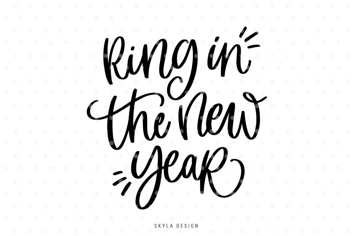 Ring In The New Year Svg Happy New Year Svg Christmas Svg