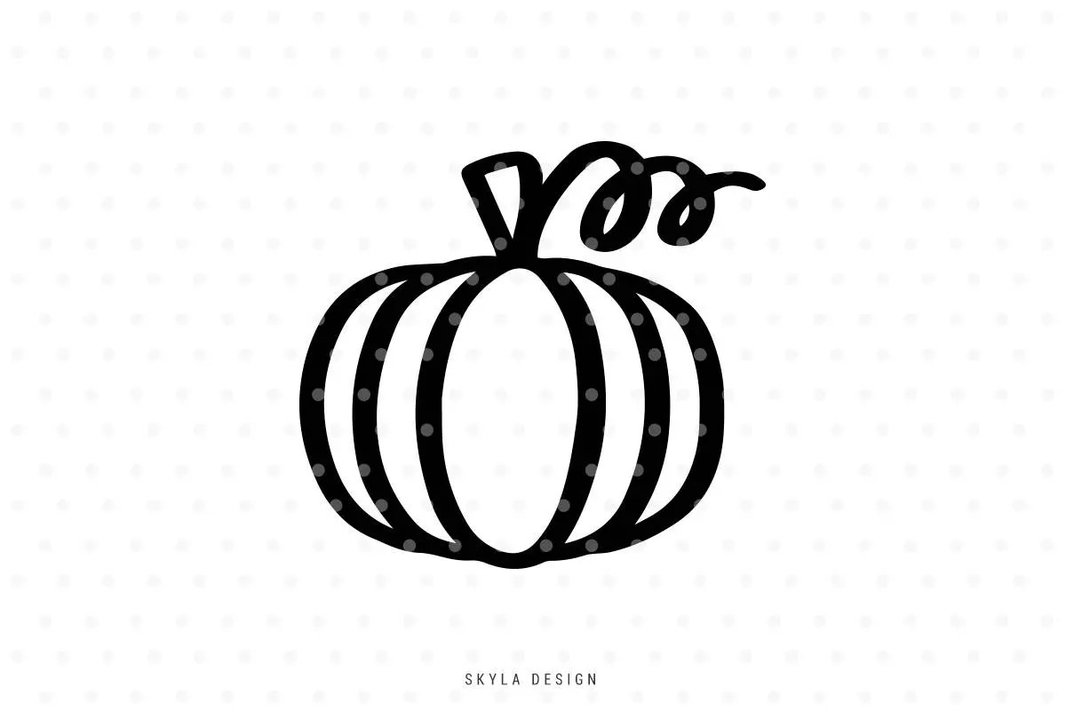 Pumpkin Outline Svg Pumpkin Clipart Pumpkin Svg Fall Svg