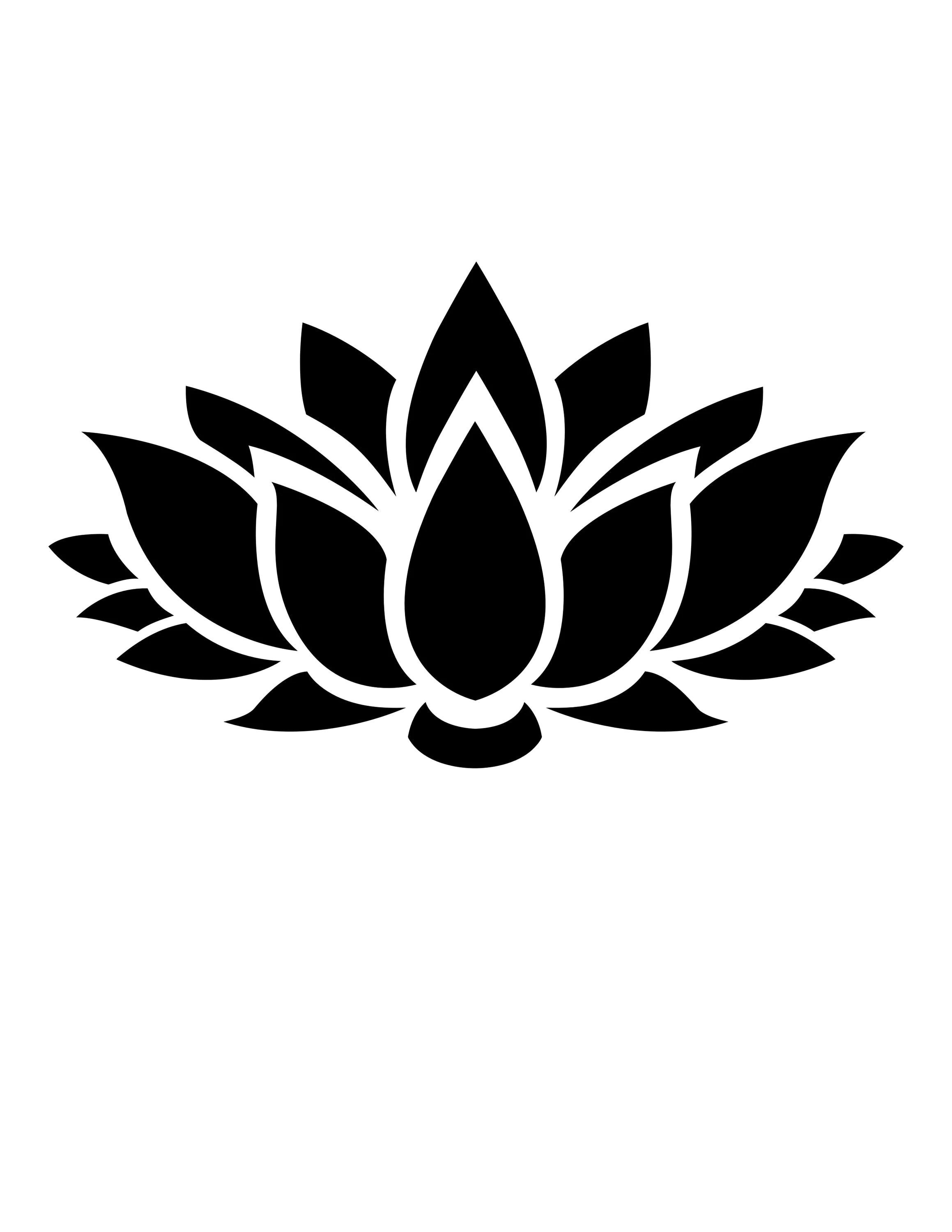 Lotus Flower Stencil Made From 4 Ply Mat Board Choose A