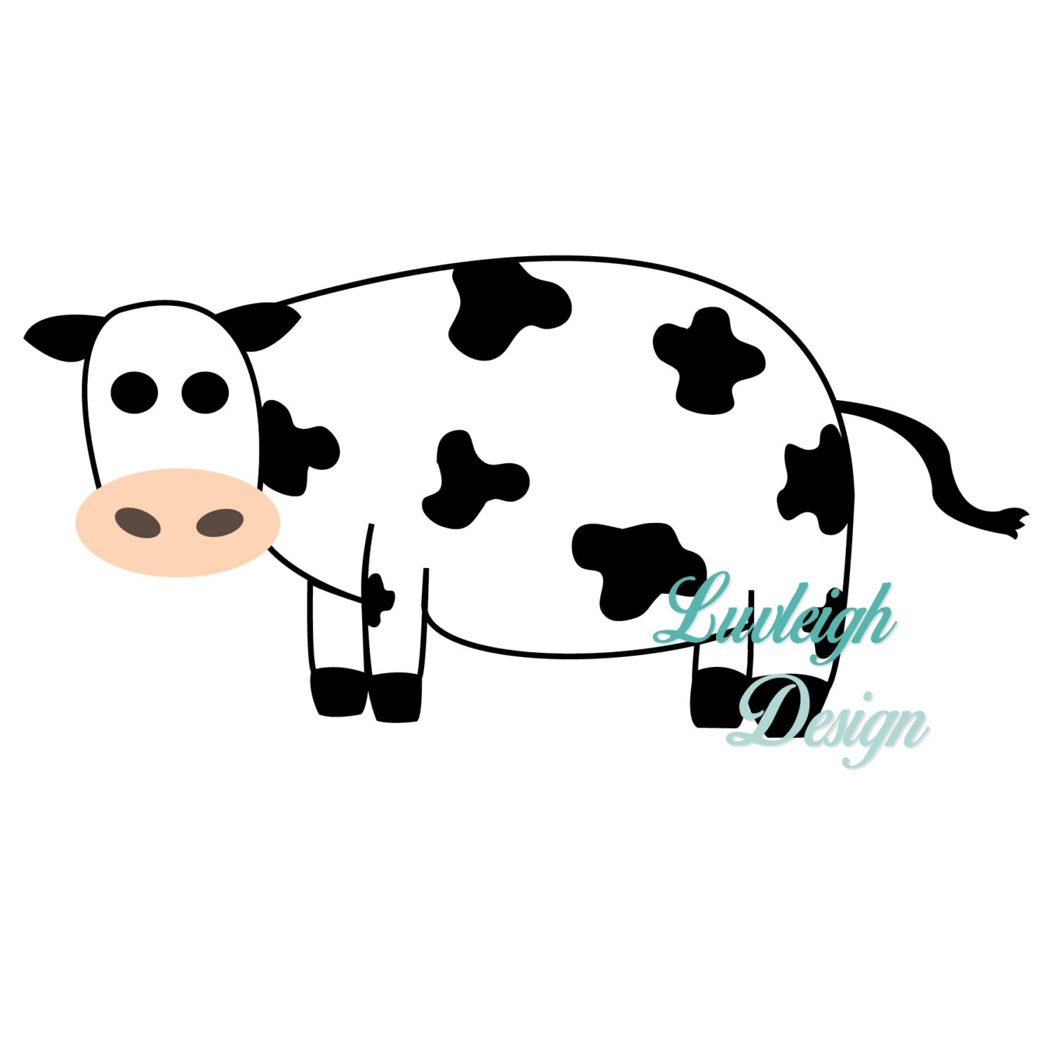 Cow Farm Barn Country Animal Clipart Download Vector File