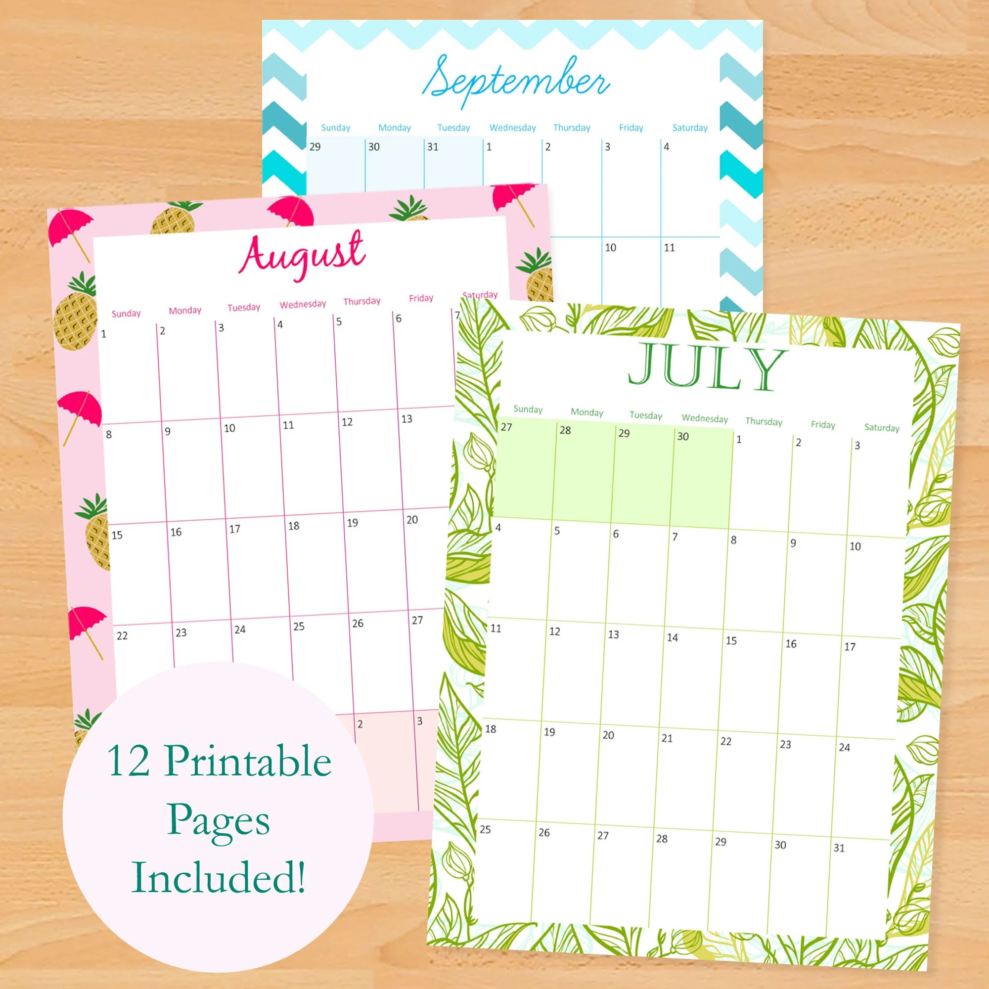 Please note that all the freebies are for personal use only and should not be distributed by any means. 2021 2022 Printable Monthly Calendar 2021 2022 Printable ...