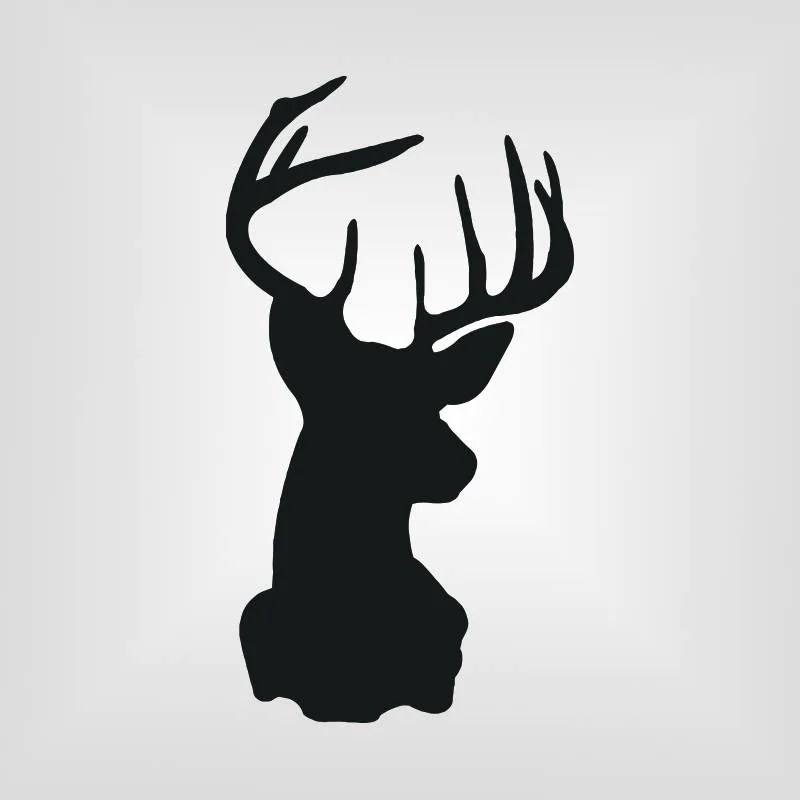 Download Buck Head Svg Deer Cutout Vector art Cricut Silhouette | Etsy