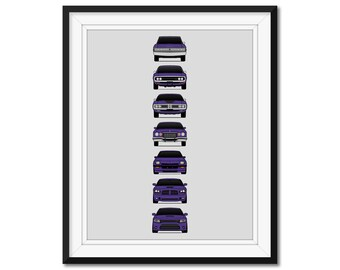 dodge charger poster etsy