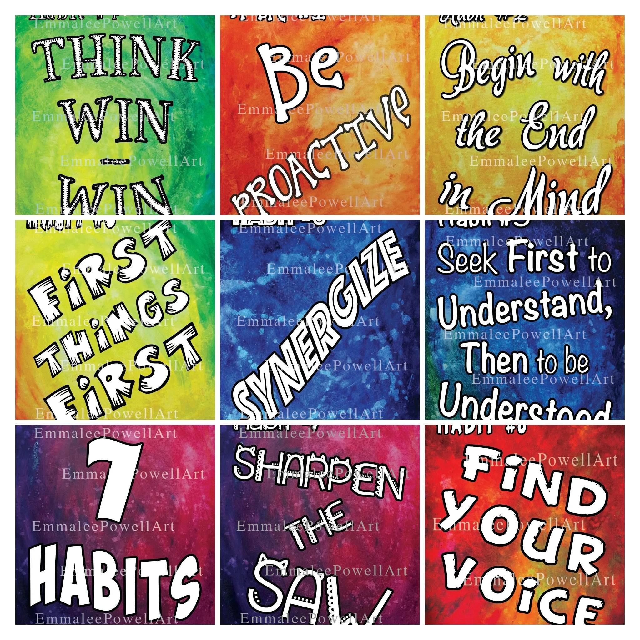 Classroom Printables Digital 7 Habits Posters 8 5x11 7
