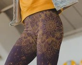 Yoga Pants Lotus Mandala ...
