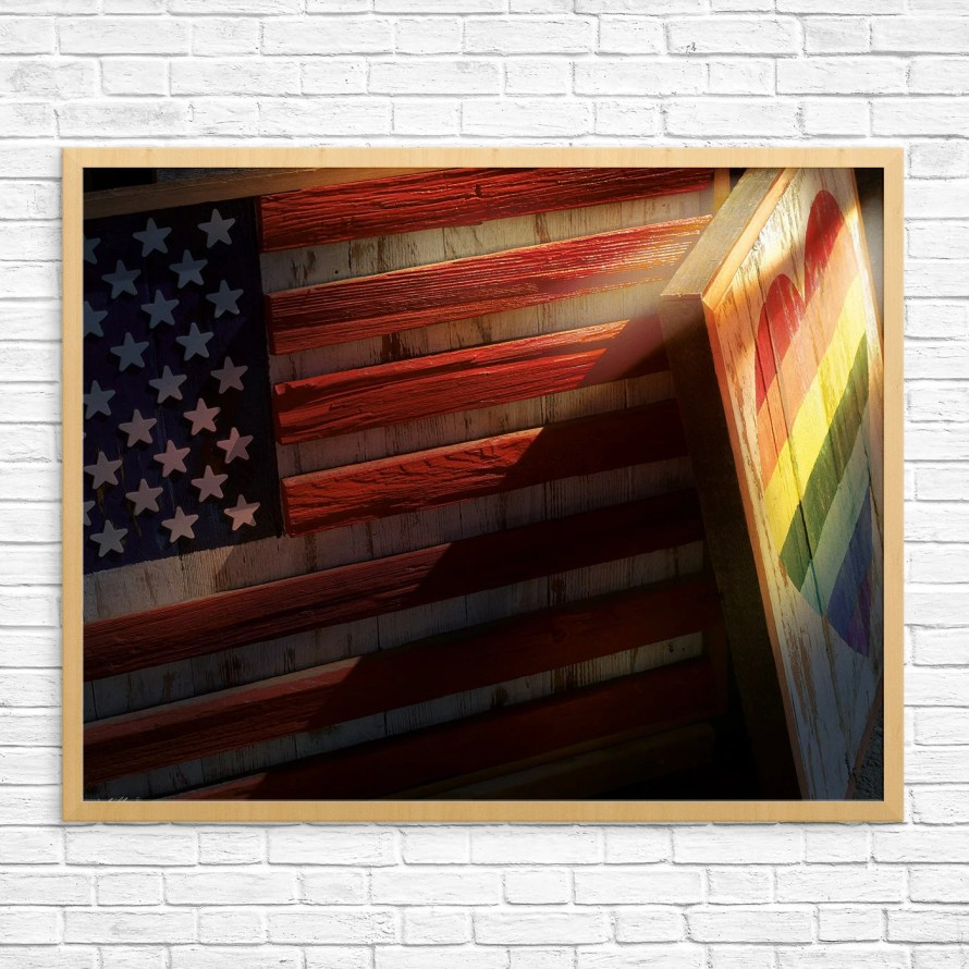Pride Print American Flag...