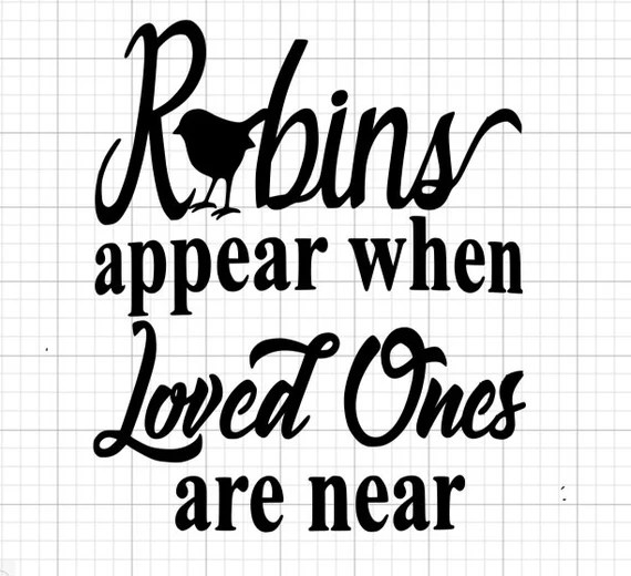 Download Robins appear when loved ones are near SVG Collection SVG ...