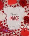 Blank White Baby Valentine Bodysuit Mockup Infant One Piece Etsy