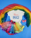Girls Rainbow Blank White T Shirt Mockup Children S Etsy