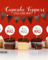 Blank Cupcake Birthday Party Toppers Mockup Photo Styled Etsy