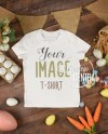 Crew Neck Blank White T Shirt Apparel Easter Mockup Top View Etsy