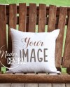 Blank White Rustic Country Square Mockup Pillow Outdoor Photo Etsy