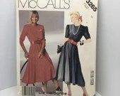 Liz Claiborne Dress Pattern by McCall's Size 16 Used Cut pattern Instructions and Information for 1980s Fashion