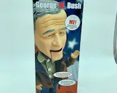 George W Bush Animated Figure Vintage Political Humor and Inspiration  Collector's Edition Animatronic President In Original Packaging