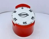 Mid Century Mirro Kitchen Timer Robert Shaw Design Wind Up Timer Baking Timer Large Font Numbers Easy Read
