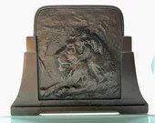 JUDD Bronze Lion Book Slide Vintage Book Rack Expandable Bookends