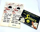 Vintage Shoe Store Marketing Shoe Shiners and Shoe Laces In Original Vintage Packaging A Live Shoe Lace Never Opened
