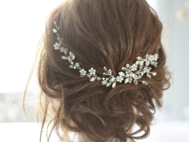 wedding hair vine bridal hair piece wedding haedpiece bridal hair accessory bridal hair vine crystal pearl hairpiece wedding hairvine