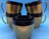 NFC Gold & Black Vintage Thermal Coffee Mugs