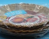 Bamboo Vintage Paper Plate Holders - Set of 8