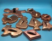 Set of 10 Copper Cookie Cutters