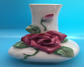 Lefton Rose Vintage Bud Vase- Hand painted