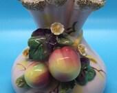 MCM - Lefton 1955 Pink Vintage Vase - Gold Accents