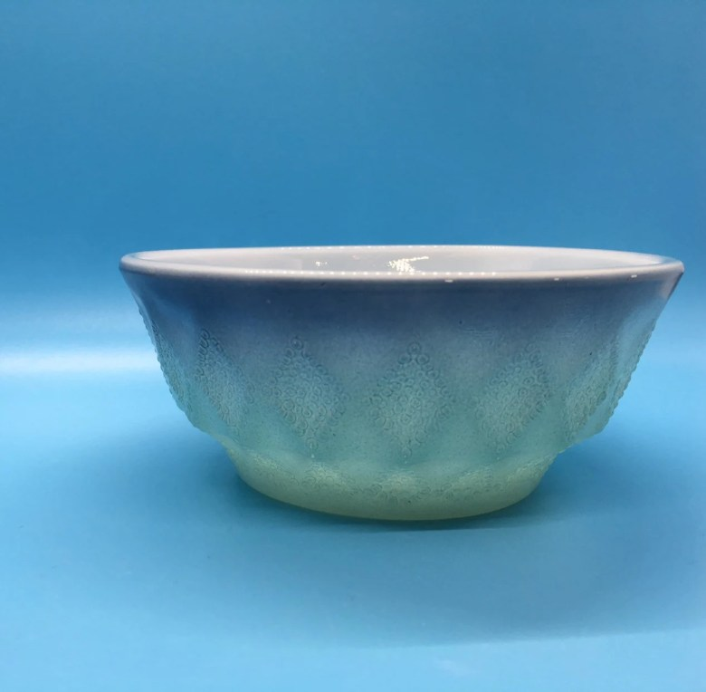 Blue Fire King Anchor Hocking Kimberly Bowl Vintage