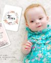 Milestone Card Mockup Baby Styled Photography Mockup Etsy