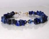 Lapislazuli gemstone bracelet, friendship bracelet, stackable bracelet, yoga bracelet, boho bracelet