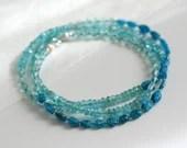 Apatite bracelet, wrap bracelet, gemstone bracelet, boho bracelet
