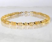 Citrine gemstone bracelet, arm candy bracelet, stackable bracelet, friendship bracelet, yoga bracelet