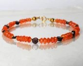 Carnelian and garnet gemstone bracelet, yoga bracelet, friendship bracelet, stackable bracelet