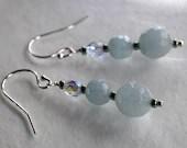 Aquamarine earrings...