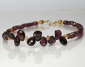Garnet gemstone bracelet, arm candy bracelet, friendship bracelet, January birthstone