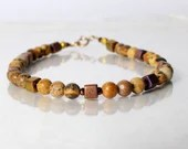 Picture jasper bracelet, yoga bracelet, friendship bracelet, stackable bracelet