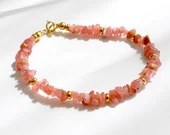Rhodochrosite bracelet, arm candy bracelet, stackable bracelet, friendship bracelet