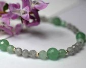 Gemstone necklace with aventurine and labradorite