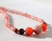 Pink gemstones necklace