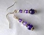 Amethyst earrings, February birthstone