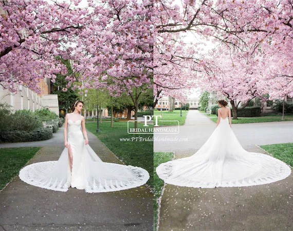 Detachable Train For Wedding Dress Detachable Bridal Train