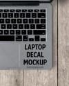 Washed Wood Trackpad Laptop Decal Mockup Laptop Mockup Decal Etsy