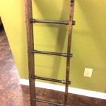 Rustic Industrial Pipe And Wood Blanket Ladder Wood Quilt Ladder Rustic Quilt Blanket Ladder Pipe Decor Blanket Ladder