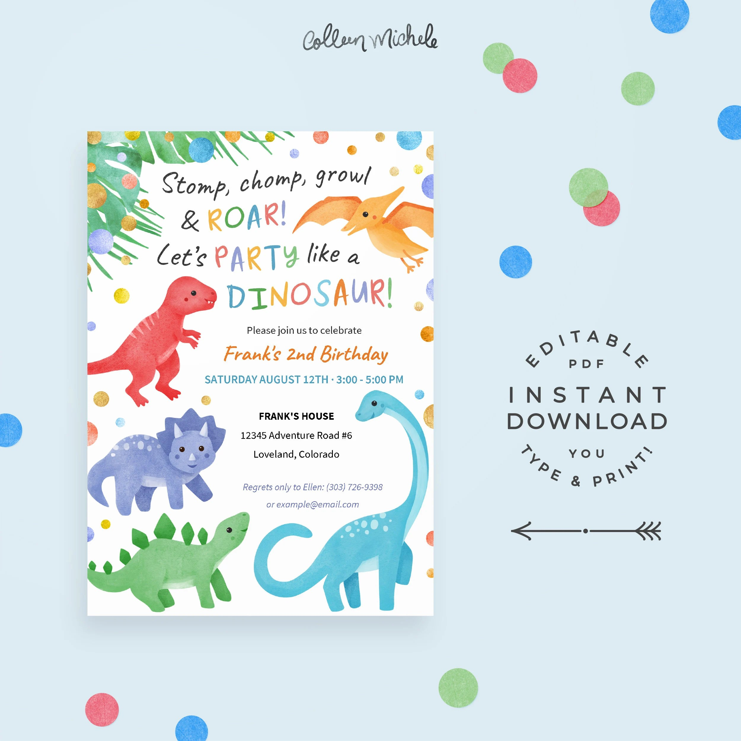 kids birthday party invitation with