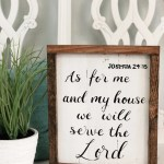 Joshua 24 15 As For Me And My House We Will Serve The Lord Reclaimed Pallet Wood Handpainted Wall Art Home Decor Sign